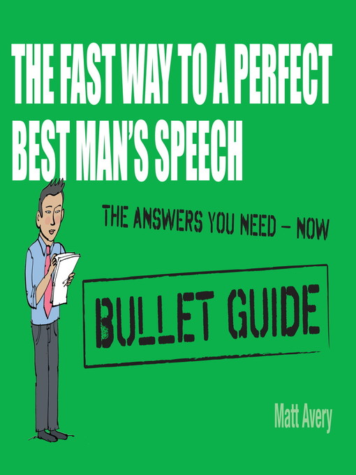 The Fast Way to a Perfect Best Man&#39;s Speech (eBook)
